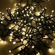 180 LED-es karácsonyfa izzó, különböző színekben - meleg-fehér