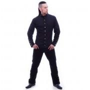košile pánská NECESSARY EVIL - Chronus - Black - N1092
