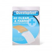 Questaplast Clear & Fabric Assorted Plasters 40 pcs Plåster