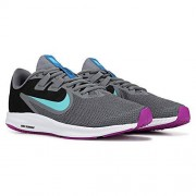 Nike Downshifter 9 Tenis para Mujer, Gris/Aqua Claro/Negro, 6.5 US