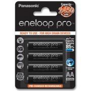 Pila Recargable Panasonic Eneloop PRO AA Blister 4U 2.450mAh 500 Ciclos