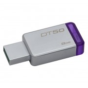 Kingston DataTraveler 50 8GB USB 3.0 pendrive, ezüst-lila (DT50/8GB)
