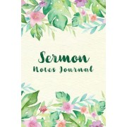 Sermon Notes Journal: Tropical Frame Personal Organize Notes and Motivations Write Record Remember and Reflect Scripture Notes & Key Points
