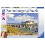 Ravensburger Puzzles on the Beach, Multi Color (500 Pieces Gold Edition)