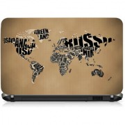 VI Collections Text Marping Map Printed Vinyl Laptop Decal 15.5