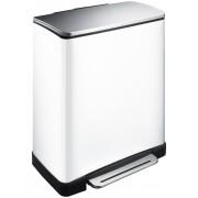 Кош за разделно събиране на отпадъци с педал Eko E-Cube 28 + 18 л - бял
