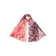 【63%OFF】ATHENS シルク スカーフ バーガンディ/レッド ファッション > ファッション小物~~スカーフ