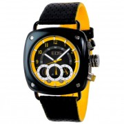 EOS New York Gauge Watch Black/Yellow 173SBLKYEL