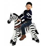 Mechanical Riding Zebra Toy Simulated Horse Riding on Toy Ride-on Toys :More Comfortable Riding with Gallop Motion for Kids 3-6 Years