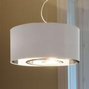 65 cm large hanging light Circles, white-silver