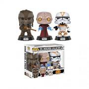 Pop! Star Wars Tarfful/Unhooded Emperor/Utapau Clone Trooper Vinyl Bobble-Heads Variety Pack 3 ct Box