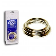 Metal Cock Ring 3 Pack