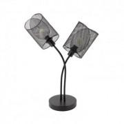 efectoled.com Lámpara de Sobremesa Klam 2 Focos Negro Negro