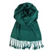Vicenza elegantní jednobarevný šál tmavě zelená