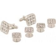 Tripin Brass Cufflink Set(Silver)