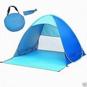 Aeoss Portable Pop Up Cabana Beach Shelter Infant Sand Tent Sun Shade Outdoor UV Blue