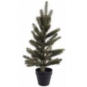 Geen Kunst kerstboomp groen in pot 60 cm