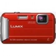 Panasonic Appareil photo numérique compact PANASONIC Lumix DMC-FT30 rouge