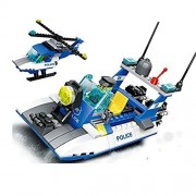 Wange 3in1 Building Block Super Police Police Boat #51015 2doll 205pcs Compatible with Lego