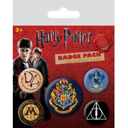 Pyramid Harry Potter - Hogwarts Pin Badges 5-Pack