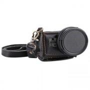 PULUZ®-fodral i läder med 40,5 mm UV-lins för GoPro Hero 5 / Hero 6 / Hero 7 Black - Svart