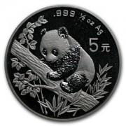 Panda Stříbrná mince 5 Yuan China 1/2 Oz 1995