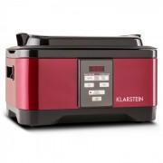 Klarstein Tastemaker Sous-vide Slow Cooker Långsamkokare 6 l 550 W rostfritt stål röd