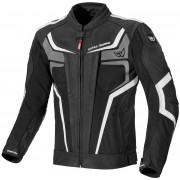 Berik Cosmic Waterproof Motorcycle Leather/Textile Jacket Chaqueta ... Negro Blanco 50