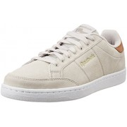 Reebok Classics Men's Royal Smash Sde Sand Stone, Bea, Brown, White and Gold Leather Sneakers - 10 UK/India (44.5 EU)(11 US)