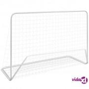 vidaXL Mali gol s mrežom i potpornjima, 182 x 61 x 122 cm