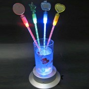 Chocozone Light up Toys Glow Sticks Liquid Stirrer Mixed Colors Party Favors Supplies for Night Club Parties ( Pack of 48)