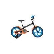 Bicicleta Caloi Hot Wheels - Aro 16 - Freio Cantilever - Infantil - PRETO/AZUL Caloi