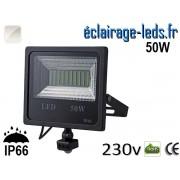 Projecteur LED extérieur 50w IP66 détecteur de présence Blanc naturel 230v