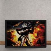 Quadro Decorativo Star Wars Stom Trooper 25x35