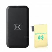 Qi Transmisor inalambrico estandar Cargador + Receptor para Samsung Galaxy Note 3 N9000 - Negro