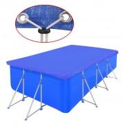 vidaXL Bazenski pokrivač pravokutni PE 90 g/sqm 394 x 207 cm