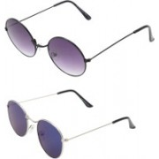 RaghuvirFashion Aviator, Wayfarer, Round Sunglasses(Violet, Blue)