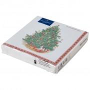 Villeroy & Boch Winter Specials serviette de table sapin de Noël, verte/multicolore, 20 pièces, 33 x 33 cm