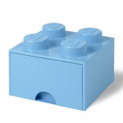 Lego Storage 4 Knob Brick - 1 Drawer (Light Royal Blue)