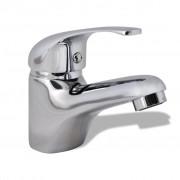 vidaXL Смесител за мивка, хром