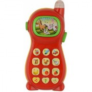 VEEJEE Learning Mobile Phone Toy for Kids with Image Projection- Multicolor