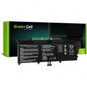 Baterie pentru laptop Asus X201E F201E VivoBook F202E Q200E S200 , Green Cell , C21/X202 5000mAh , negru