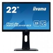 """Монитор Iiyama Prolite XB2283HS-B3, 21.5""""(54.61 cm) VA панел, FHD, 4ms, 80000000:1, 250 cd/㎡, HDMI, VGA"""