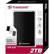 """HDD EXTERNAL 2.5"""", 2000GB, Transcend StoreJet A3, USB3.0, Black (TS2TSJ25A3K)"""