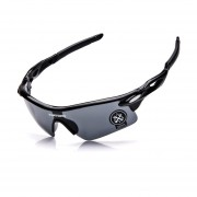 Gafas De Deporte Al Aire Libre Gafas De Equitación Unisexo -Negro Y Gris