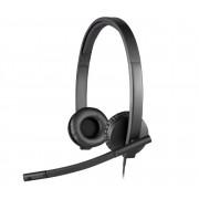 Logitech H570e Headset, kabelbunden