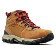 Columbia Newton Ridge Plus II Zapatillas de Senderismo para Hombre, Impermeables, Anchas, Rojo (Elk, Mountain Red), 7 W US