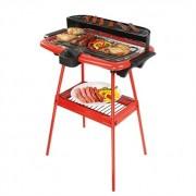 Barbecue électrique sur pieds rouge 2000 W DOM297R