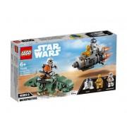 Set de constructie LEGO Star Wars Capsula de salvare contra Dewback Microfighter