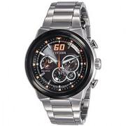 Citizen Sport Eco-Drive Chronograph Orange 45 Mm Mens Watch Ca4134-55E